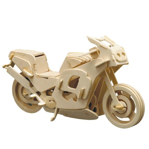 Pebaro Holzbausatz Renn Motorrad