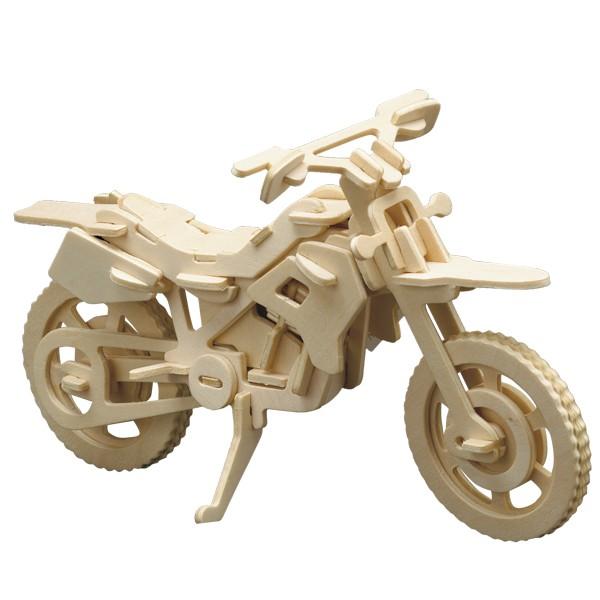 Pebaro Holzbausatz Cross-Motorrad
