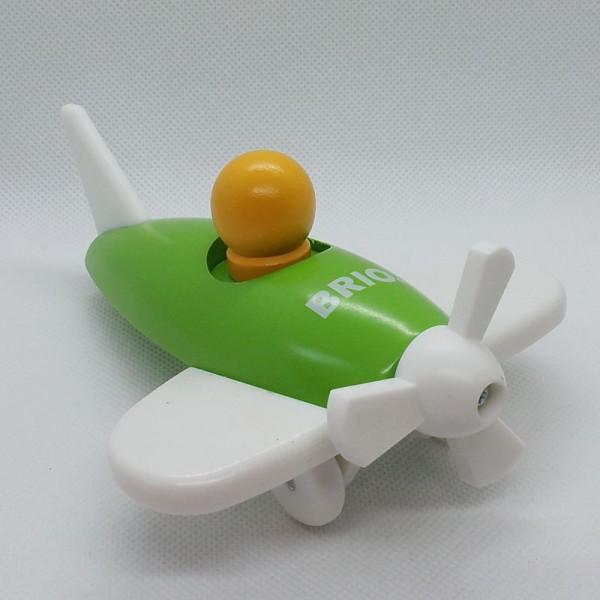 grünes Flugzeug aus Holz