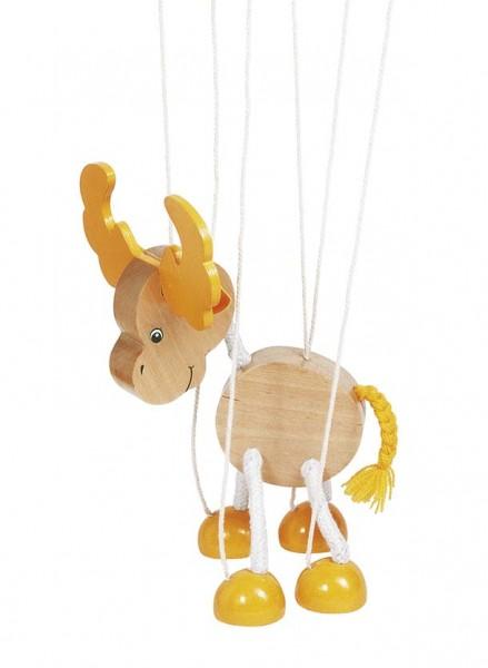 Marionette Elch, aus Holz