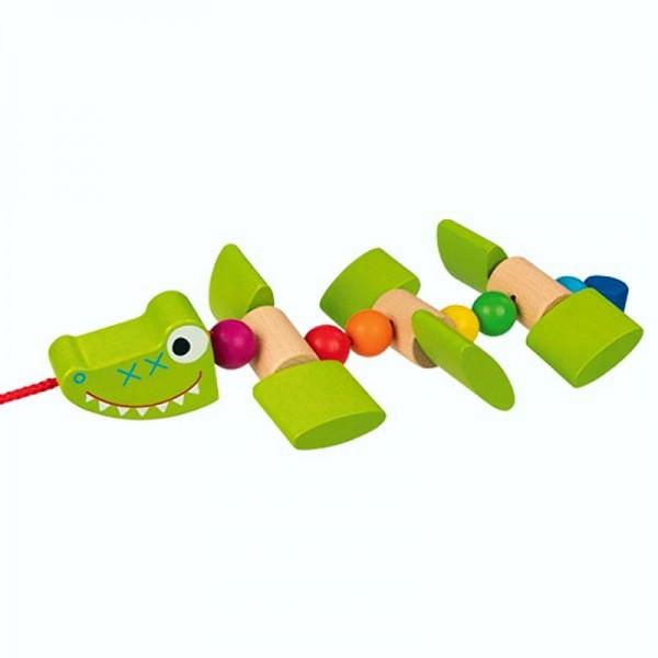 Ziehtier Krokodil, ab 1 Jahr, Holzspielzeug