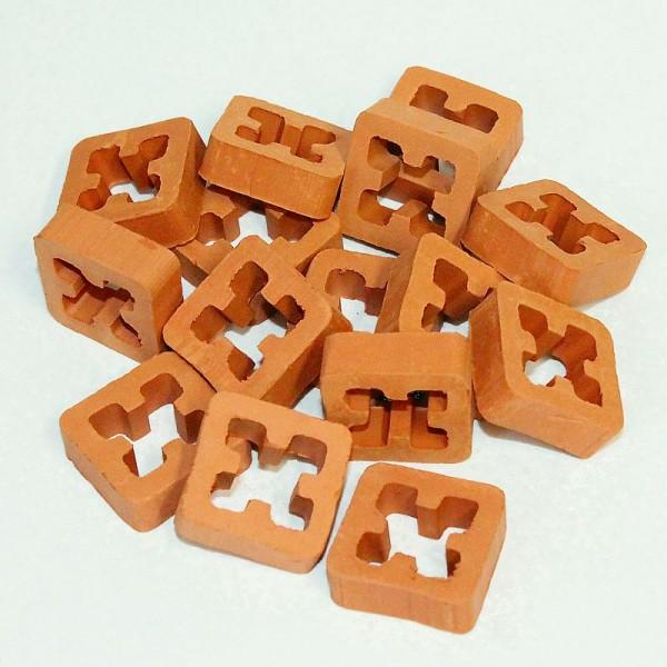 Hohlblockstein, Gitterstein aus Ton, für Modellbau, 15 Stk.