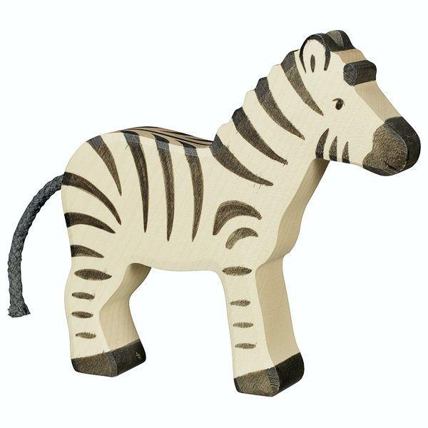 Holztiger Spielfigur, Zebra