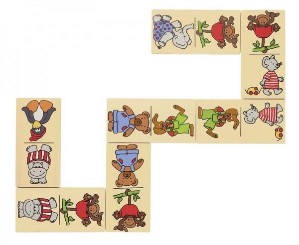 Dominospiel Tiere, im Holzschuber