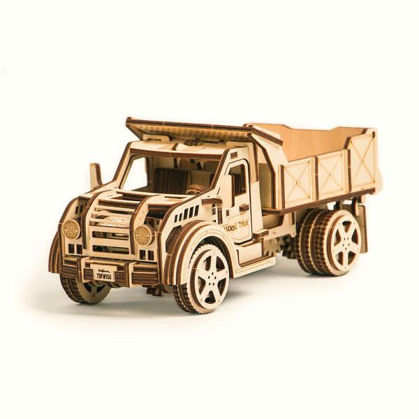 Wood Trick 3D Holzbausatz Truck, mit beweglichen Teilen und mechanischer Funktion