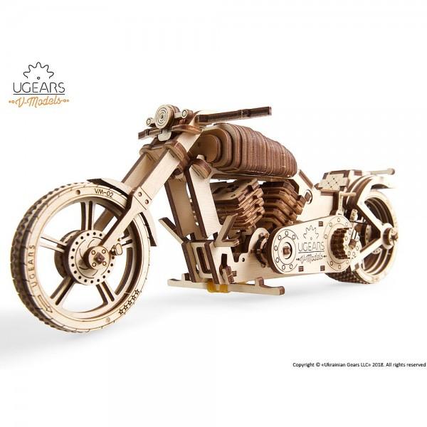 Ugears Motorrad VM-02, mechanischer Holzbausatz