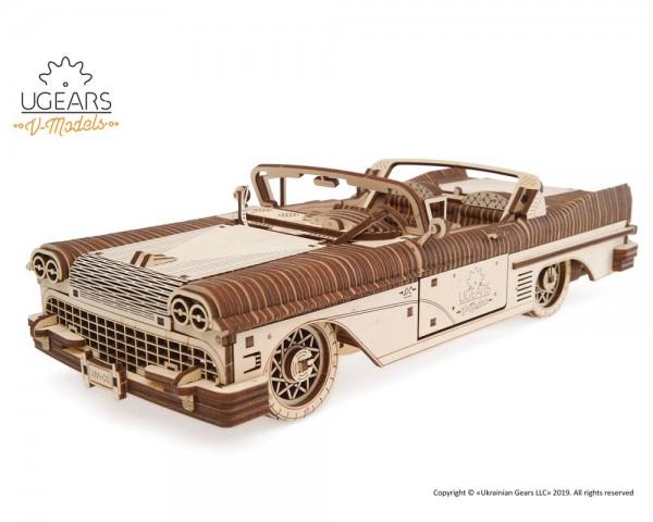 Ugears mechanischer 3D Holzbausatz Traum-Cabriolet VM-05