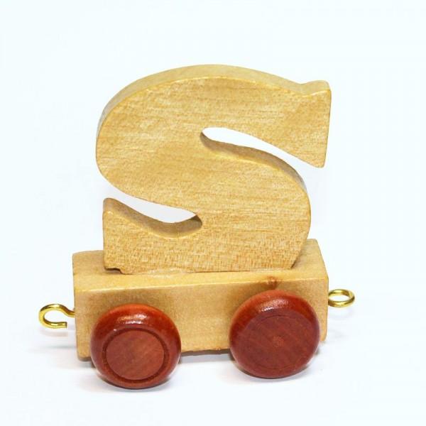 Buchstabenzug Buchstabe S, Holz