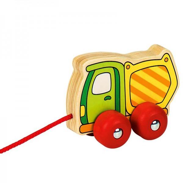 Ziehfahrzeug Kipper, aus Holz