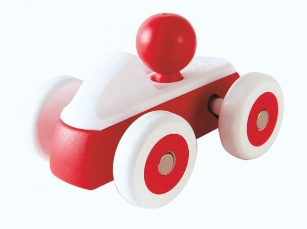 Roter Flitzer, Spielzeugauto aus Holz und Kunststoff, ab 12 Monate