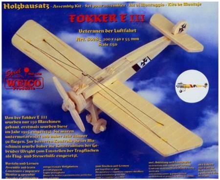 Fokker E III Weico Holzbausatz
