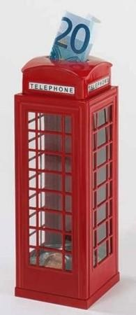 Spardose englische Telefonzelle, Blech