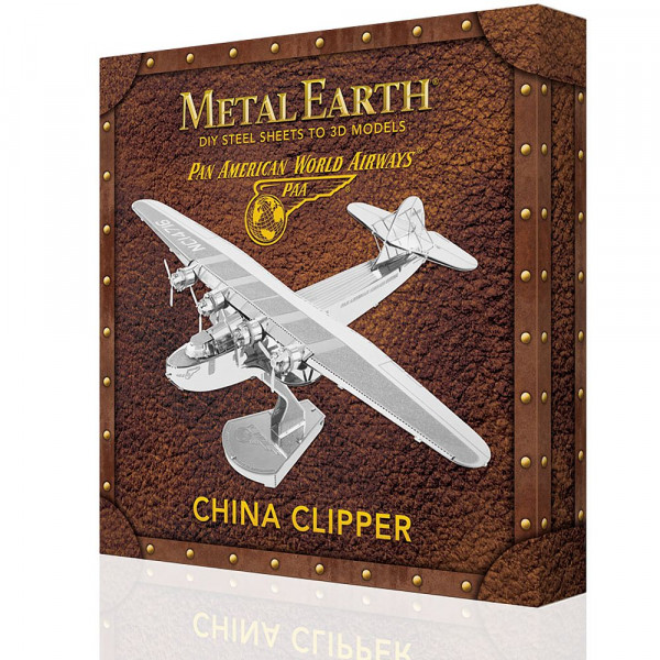 Metal Earth 3D Metallbausatz, Flugzeug Pan Am China Clipper, Box Version
