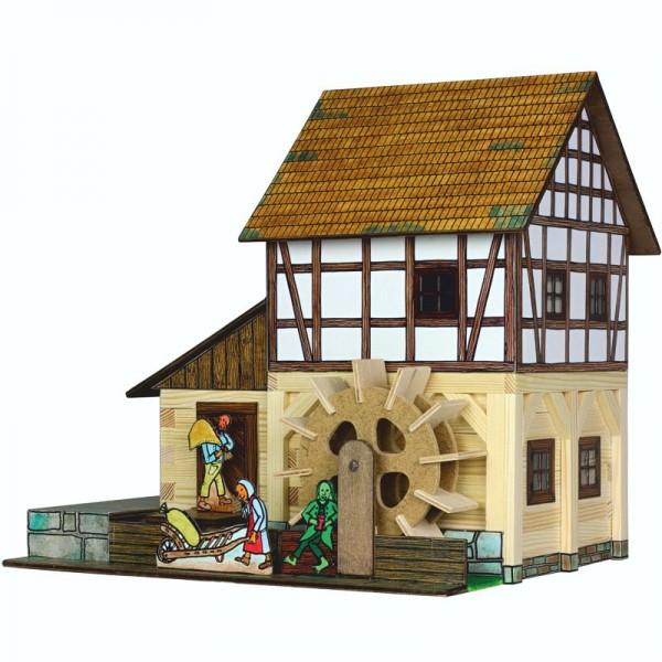 Walachia Holzbausatz Fachwerk Wassermühle