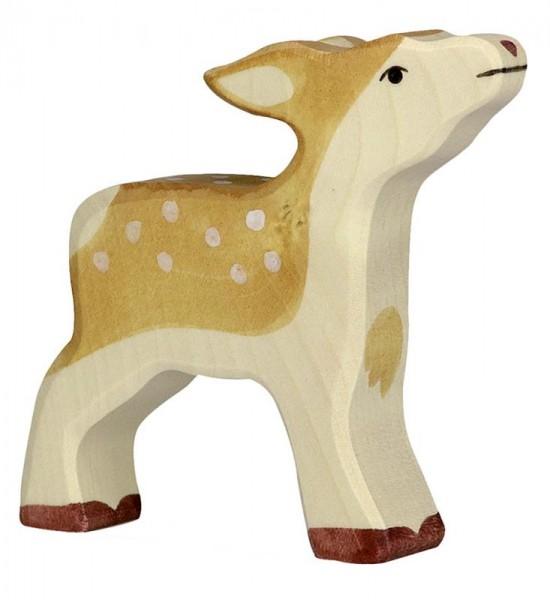 Holztiger Spielfigur Kitz