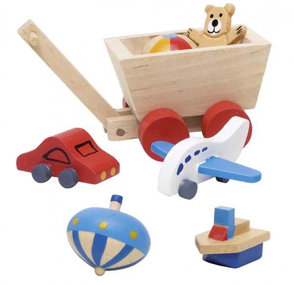 Puppenmöbel, Accessoieres für Kinderzimmer, 7 Teile
