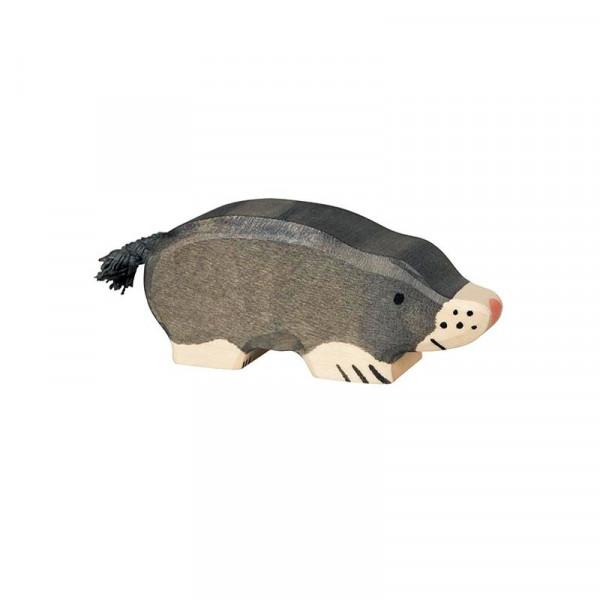 Holztiger Spielfigur Maulwurf