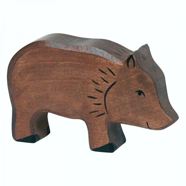 Holztiger Spielfigur Wildschwein