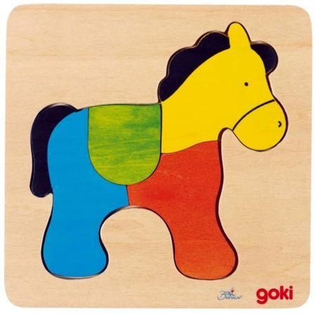 Einlegepuzzle Pferd, Holz