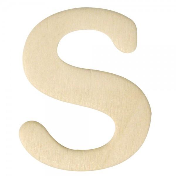 Holz-Buchstabe S, 4 cm