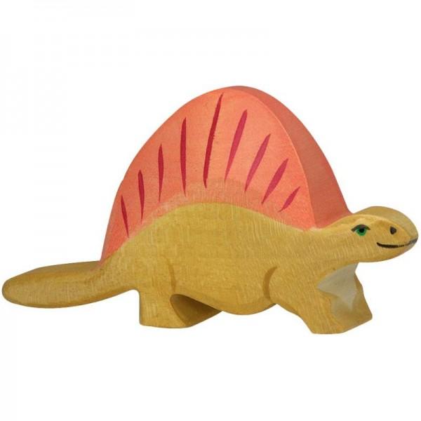 Holztiger Spielfigur Dinosaurier Dimetrodon
