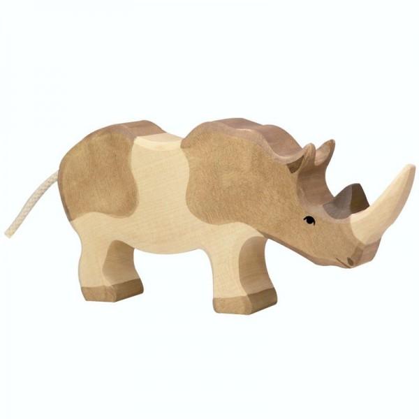 Holztiger Spielfigur Nashorn