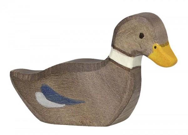 Holztiger Spielfigur Ente, schwimmend