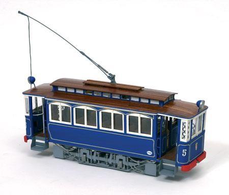 OcCre Holzbausatz Straßenbahn, Tramvia blau