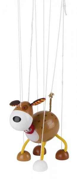 Marionette Hund, aus Holz