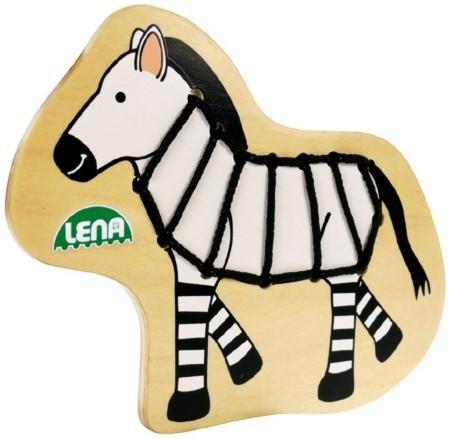 Holz Fädeltier Zebra