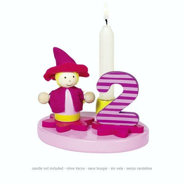 Geburtstagskind kleines Mädchen, mit austauschbaren Zahlen von 0 bis 9
