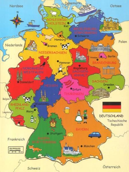 Holz - Einlegepuzzle Deutschland
