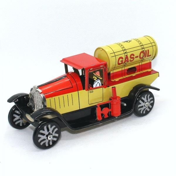 Blechspielzeug Öl-Tanklastwagen, mit Federwerk