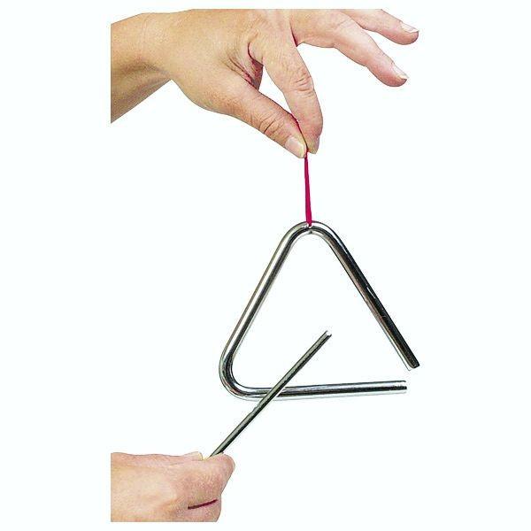 Triangel, 10 cm, mit Metallstab