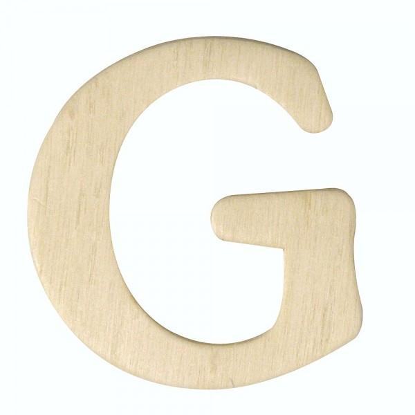 Holz-Buchstabe G, 4 cm