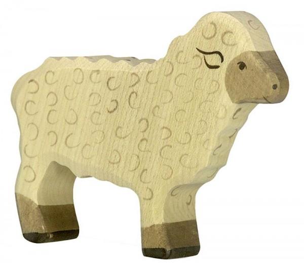 Holztiger Spielfigur Schaf, stehend
