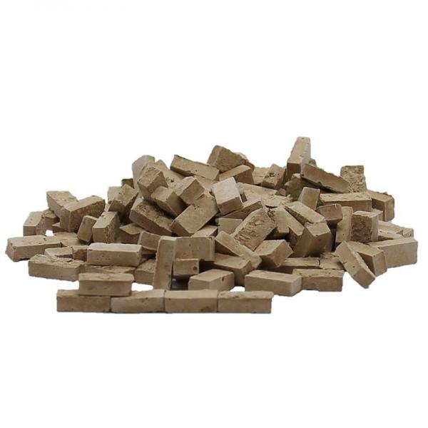 Lehmziegel, Miniaturmauersteine, M1:32, 800 Stk., beige dunkel
