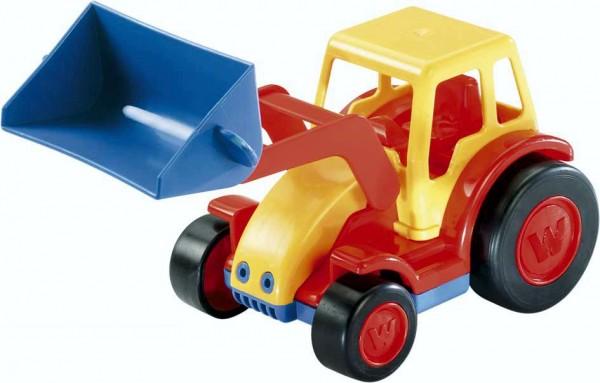 Wader Basics Spielzeugauto Traktor mit Schaufel