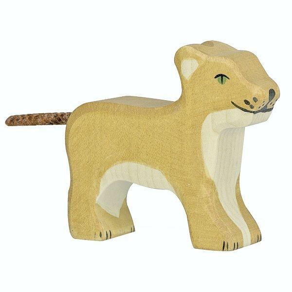 Holztiger Spielfigur, Löwe, klein, stehend