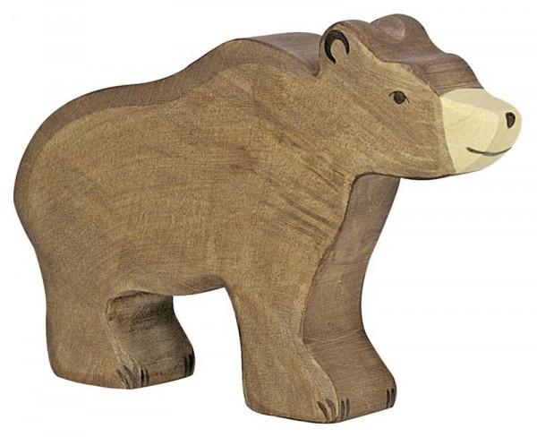 Holztiger Spielfigur Braunbär