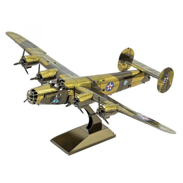 Metal Earth 3D Metallbausatz, Flugzeug B-24 Liberator