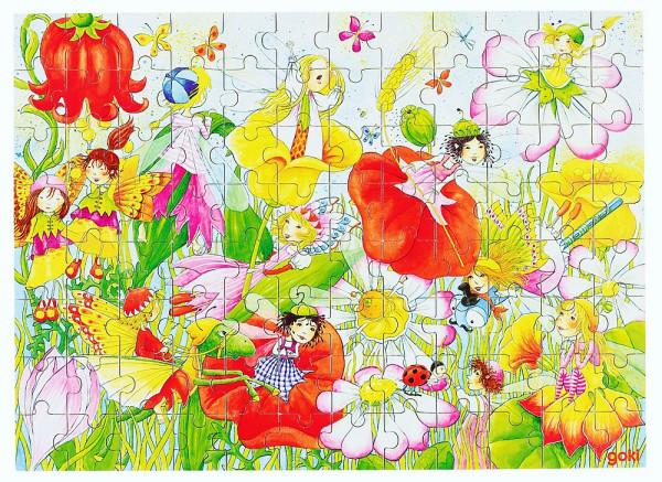 Puzzle aus Holz, Blumenfeen, 96 Teile aus Holz