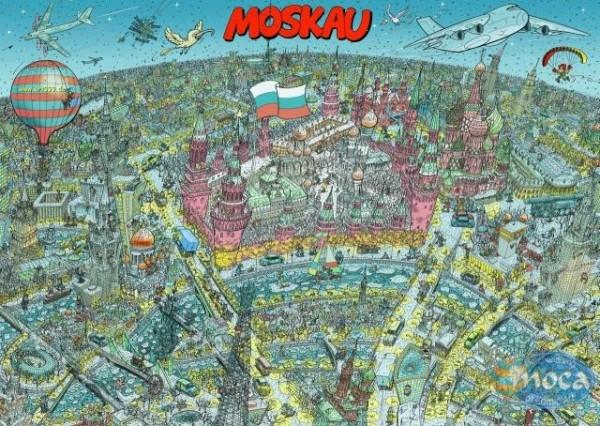 Moca Puzzle Moskau 500 Teile