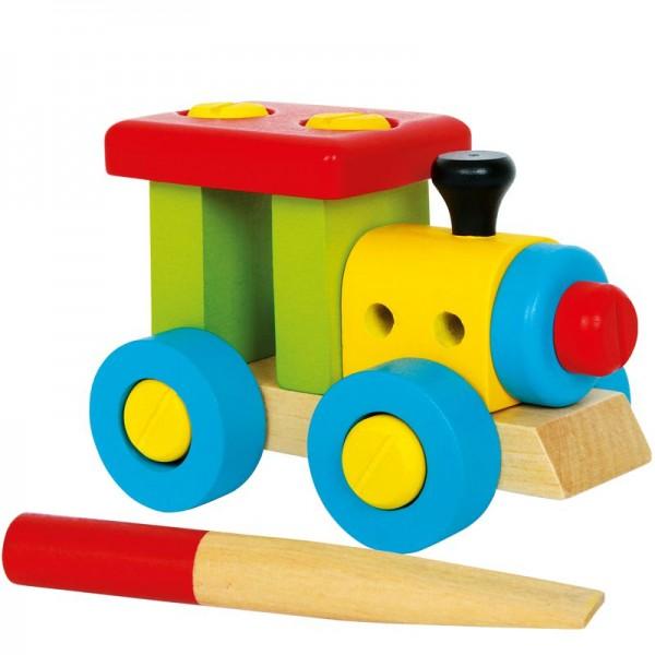 Konstruktionslok, Holzeisenbahn, ab 3 Jahre