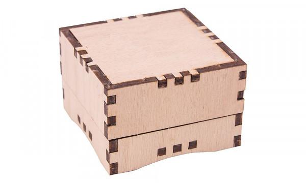 Holzbausatz Basteltruhe - Geschenkbox klein Blanco