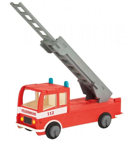 Holzbausatz Feuerwehrauto, 23 Einzelteile