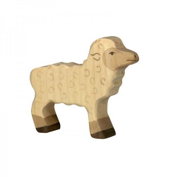 Holztiger Spielfigur Lamm