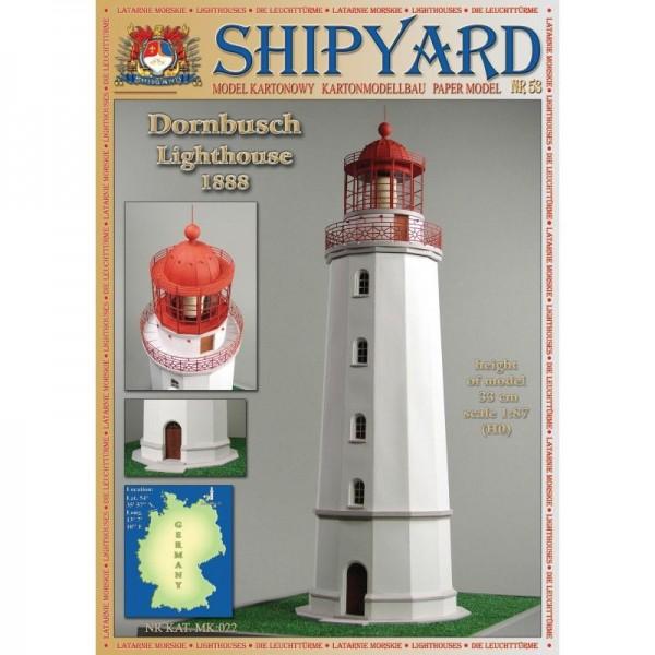 Modellbaubogen Dornbusch Leuchtturm Maßstab 1:87 (H0)