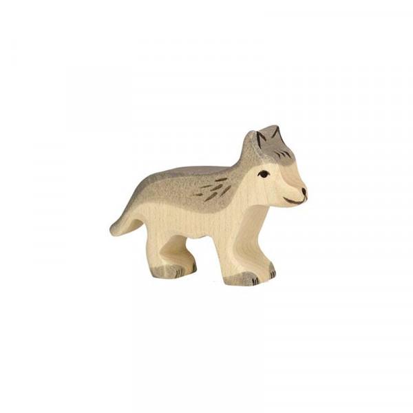 Holztiger Spielfigur Wolf, klein