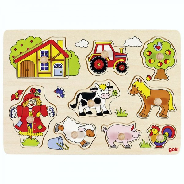 Steckpuzzle Bauernhof VI, 8 Teile aus Holz